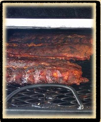 Ribs at Graham's Up In Smoke BBQ